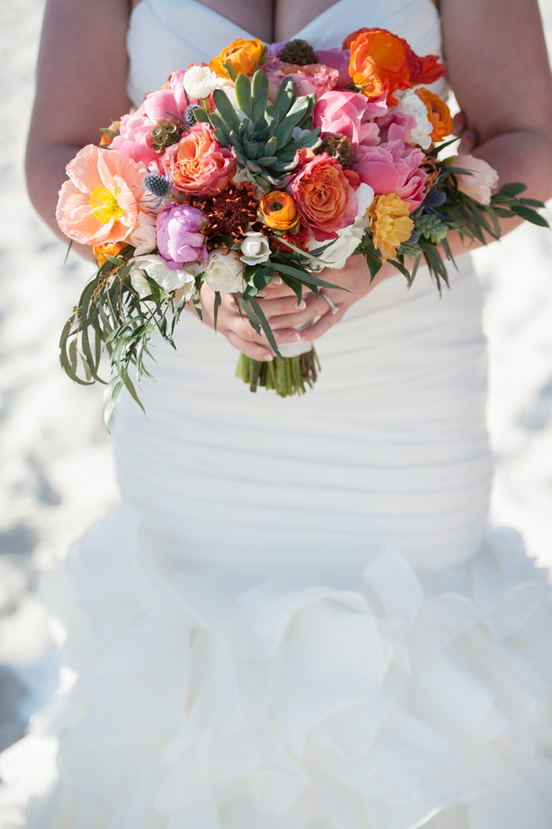 Coral and Aqua Beach Wedding | Every Last Detail