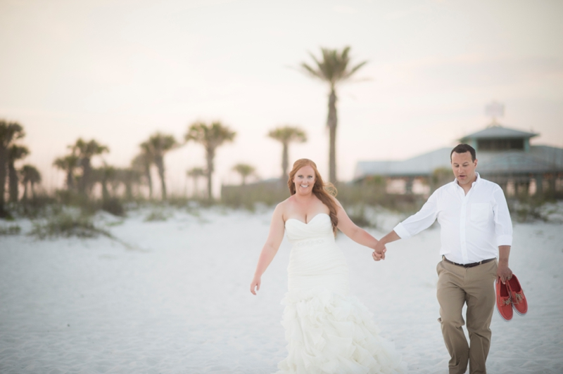 Coral and Aqua Beach Wedding via TheELD.com