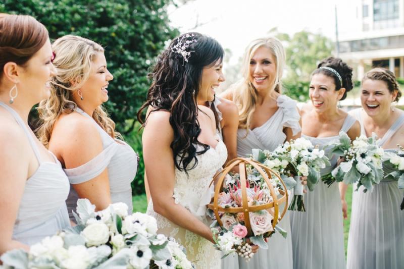 Eclectic Pink and Gray Garden Wedding via TheELD.com