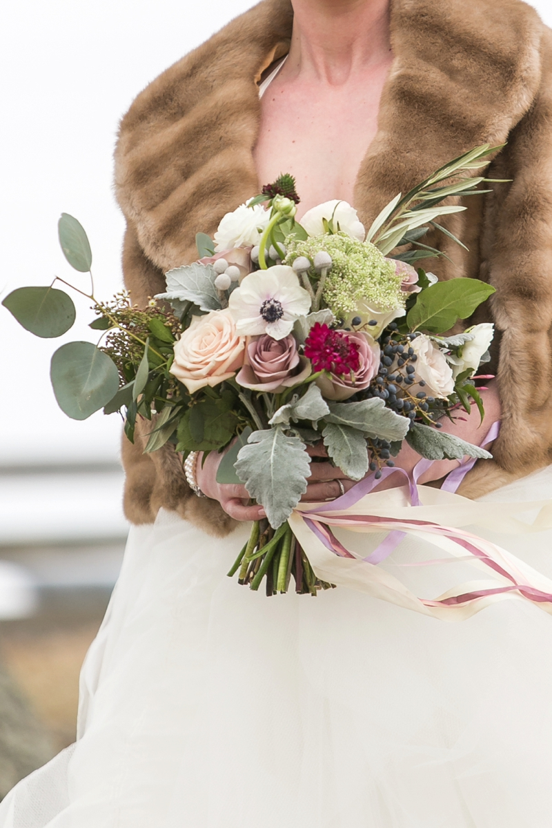 Elegant Lavender Winter Wedding Inspiration via TheELD.com