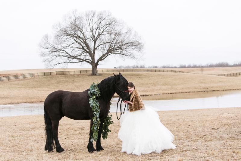 Elegant Lavender Winter Wedding Inspiration via TheELD.com