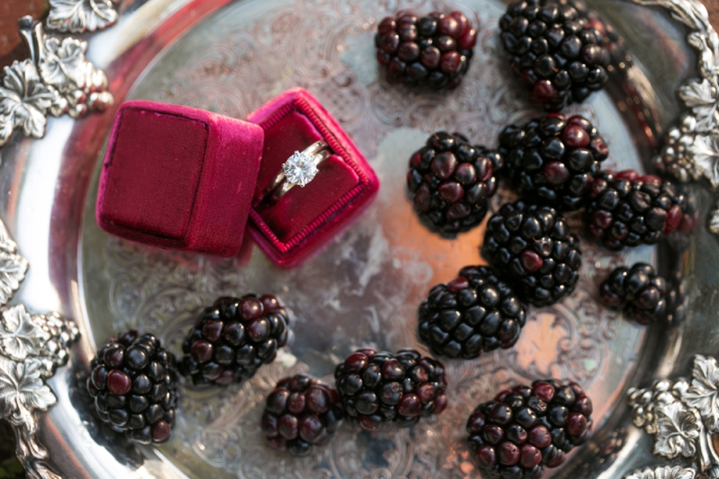 Romantic Berry Inspired Wedding Ideas via TheELD.com