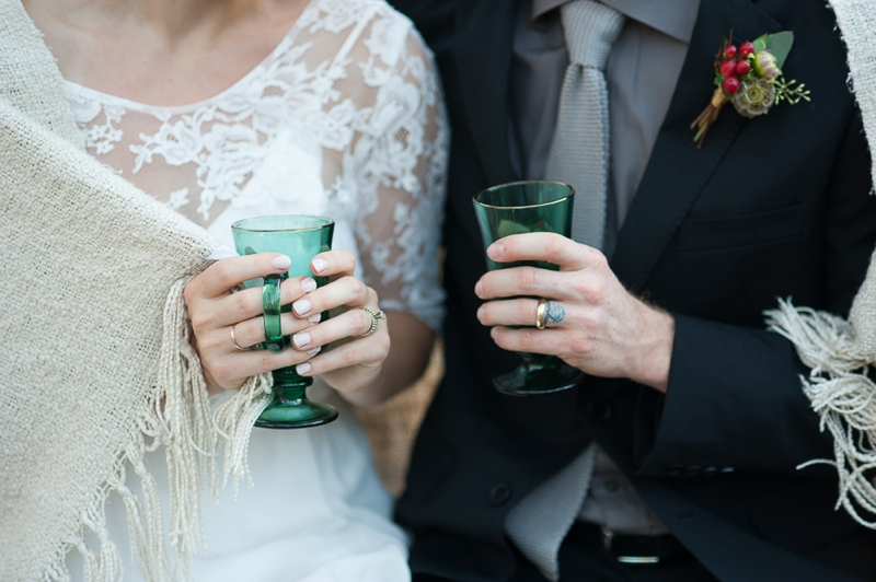 Romantic Red and Green Wedding Ideas via TheELD.com