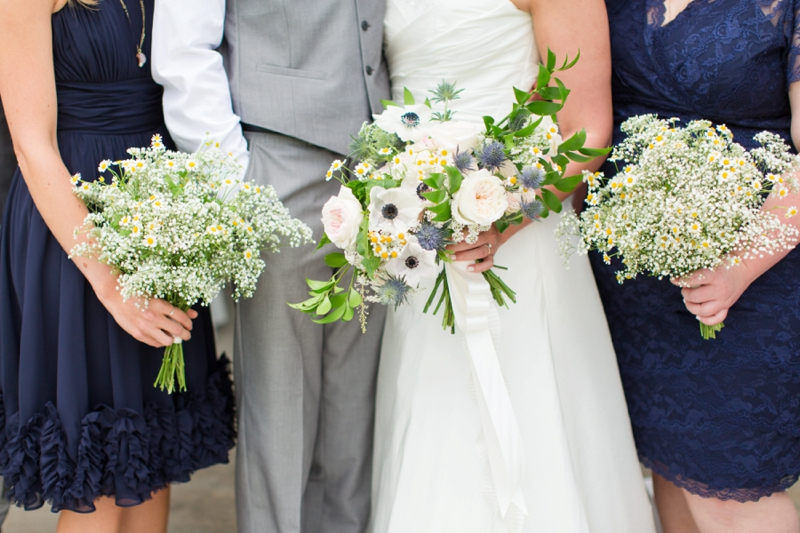 Navy and Blush Wedding