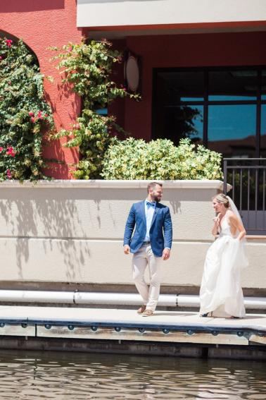 A Nautical Coral and Blue Destination Wedding via TheELD.com