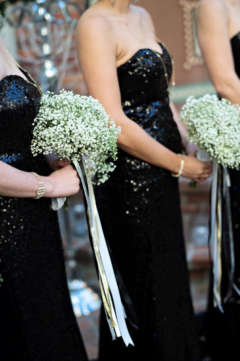 Black White Gold Living Room Decor: Elegant Black, White & Gold Wedding