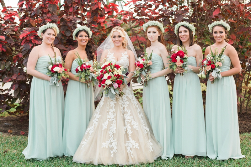 Rustic Elegant Red and Gold Wedding via TheELD.com