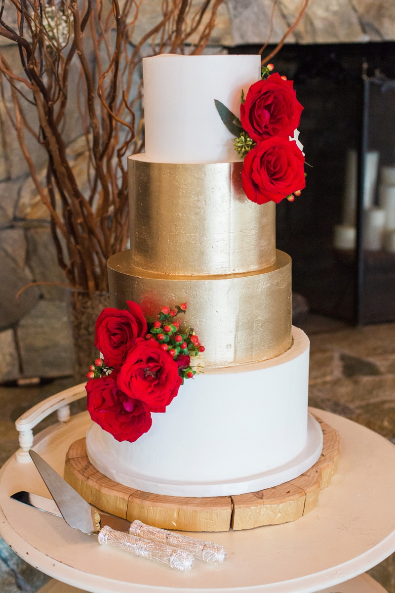 wedding cake red and gold rustic and gold wedding every last detail 23661