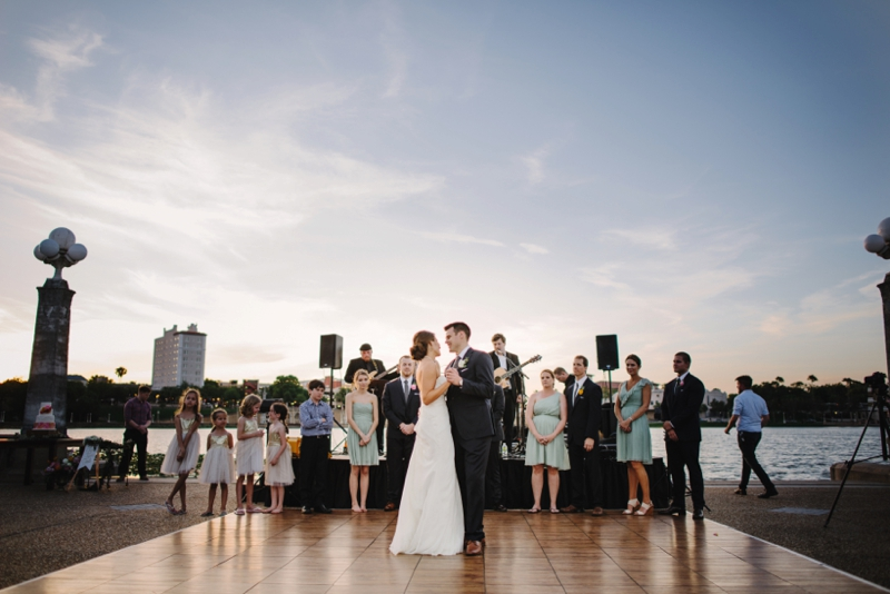 A Romantic Blush and Mint Wedding via TheELD.com