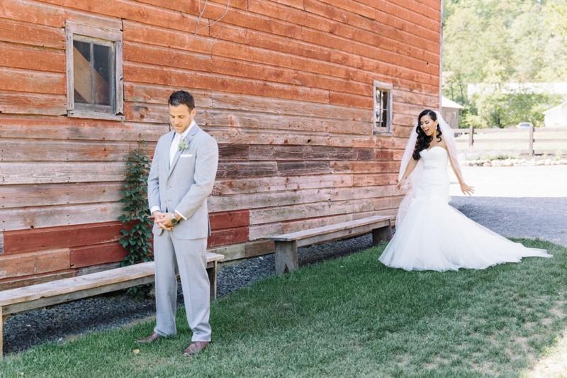 A Rustic Blush Catskills Wedding via TheELD.com