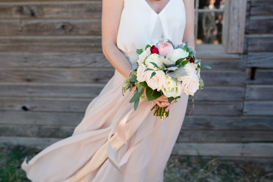 Chic Blush, Red & Gray Washington Wedding via TheELD.com