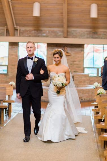 Elegant Blush & Gold Illinois Wedding via TheELD.com
