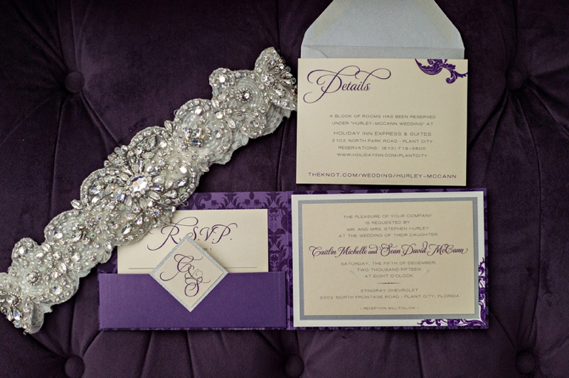 Modern & Glamorous Purple Wedding via TheELD.com