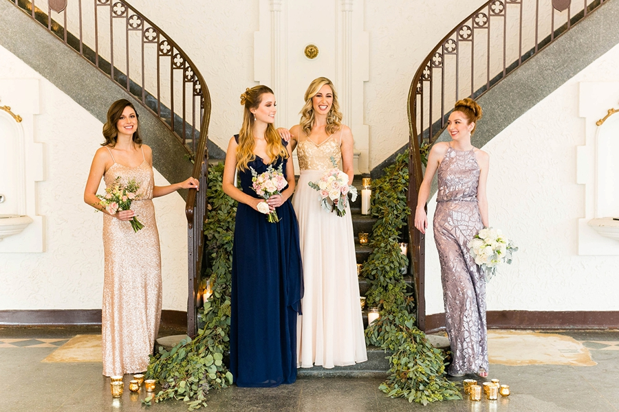 Mix and Match Bridesmaid Dresses From Brideside via TheELD.com