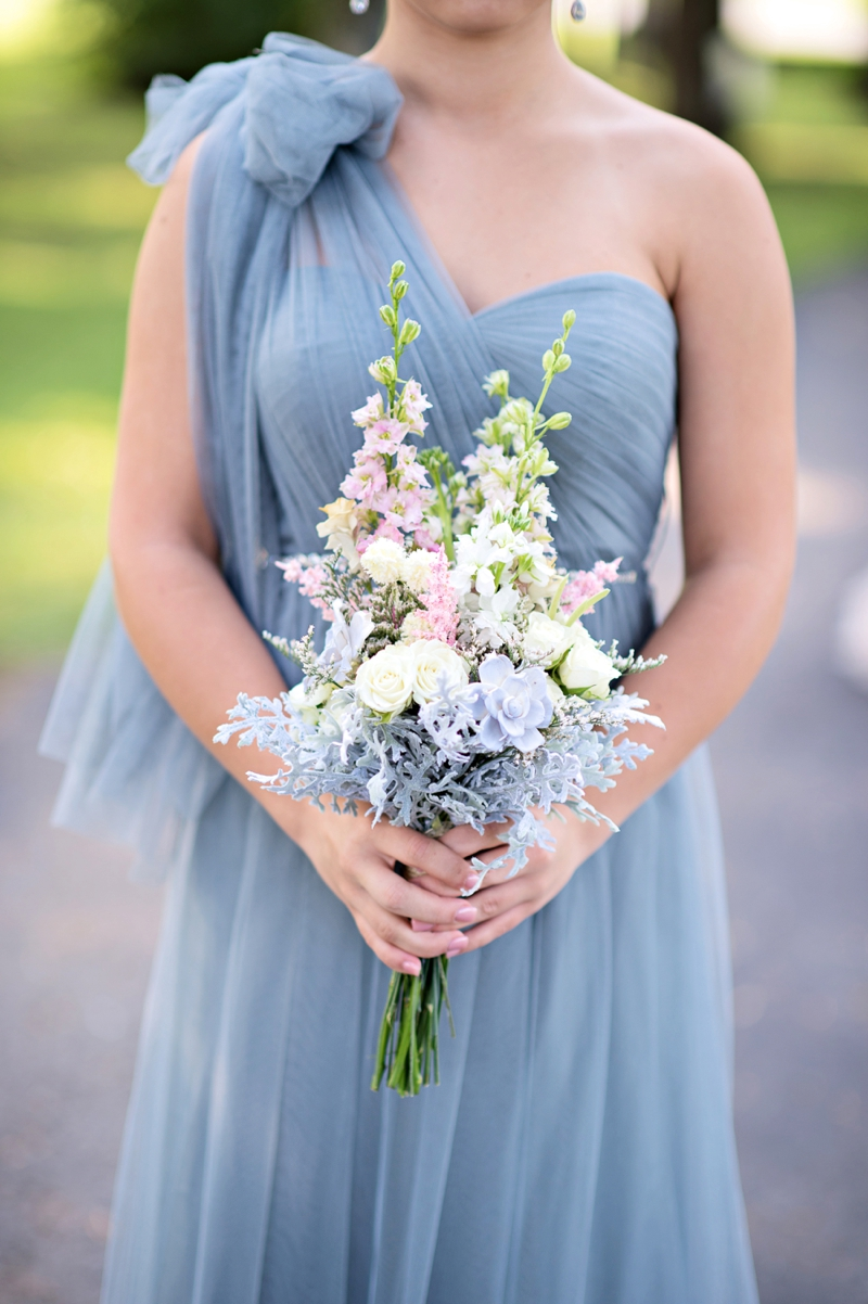 Romantic Blush And Blue Nashville Wedding Every Last Detail