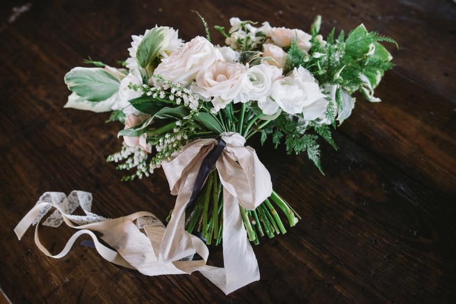 Romantic Lakeside Navy and Blush Wedding via TheELD.com