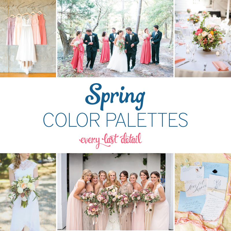 15 spring wedding color palettes every last detail