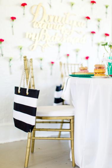 A Kate Spade Inspired Donut Bridesmaid Brunch via TheELD.com