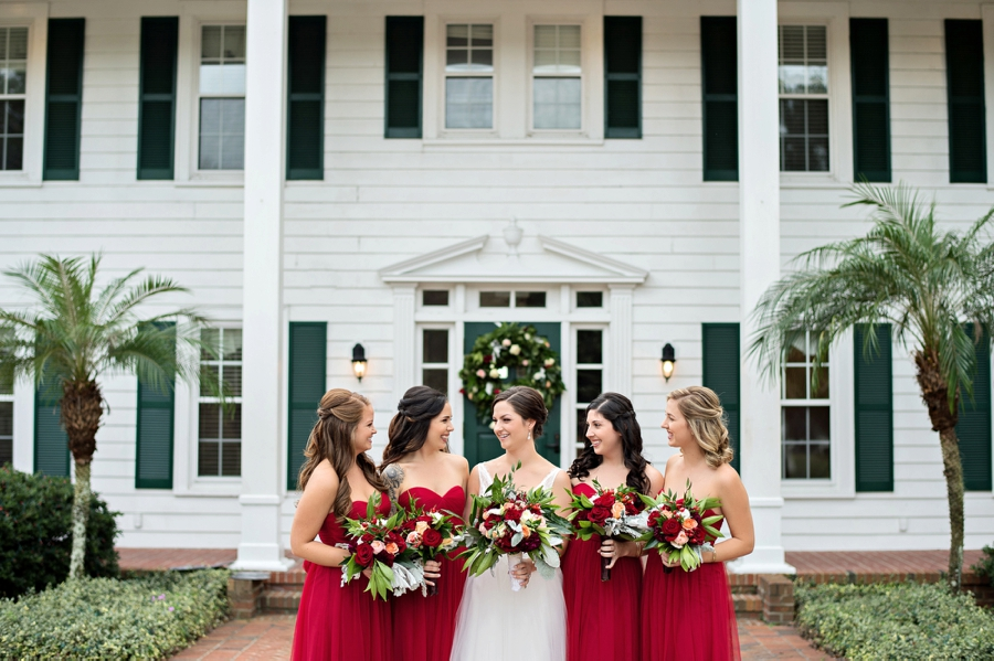 A Rustic & Romantic Red Wedding via TheELD.com