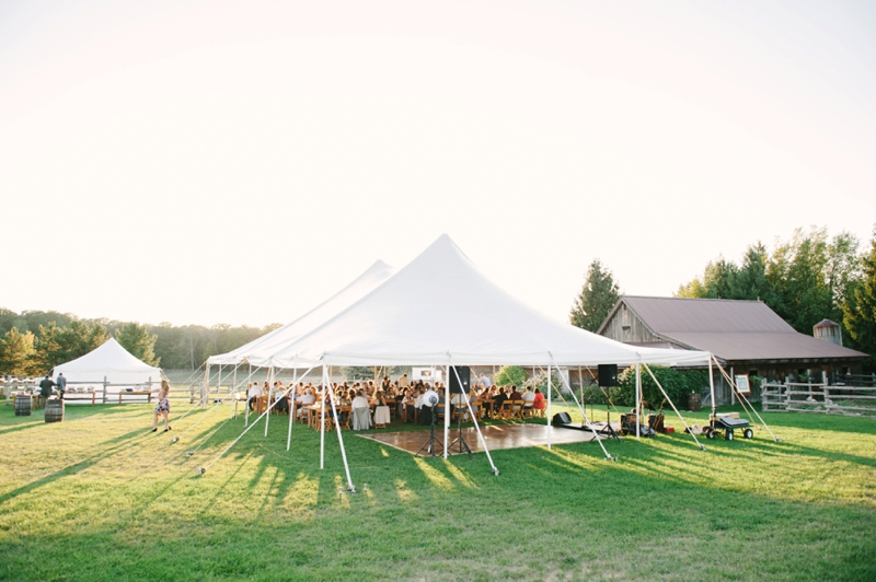 Vintage Rustic Michigan Wedding at Snow Moon Ranch via TheELD.com
