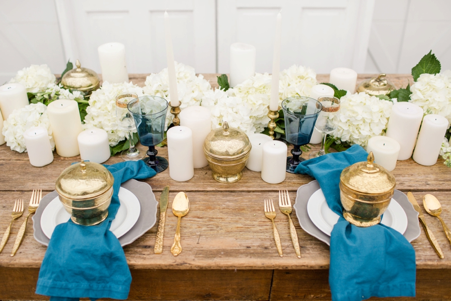 Romantic Teal, Blue, and White Wedding Ideas via TheELD.com