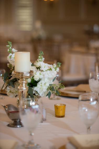 Classic Elegant White and Gold Wedding via TheELD.com