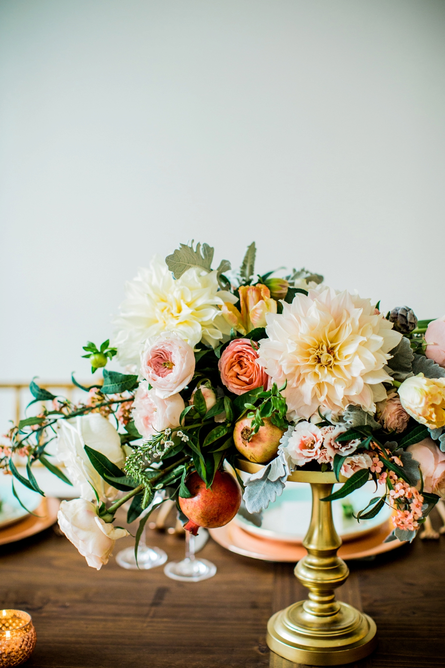Eclectic Mint and Rose Gold Wedding Ideas With Minted via TheELD.com