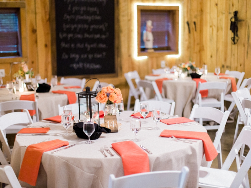 Rustic Peach & Blue North Carolina Wedding via TheELD.com