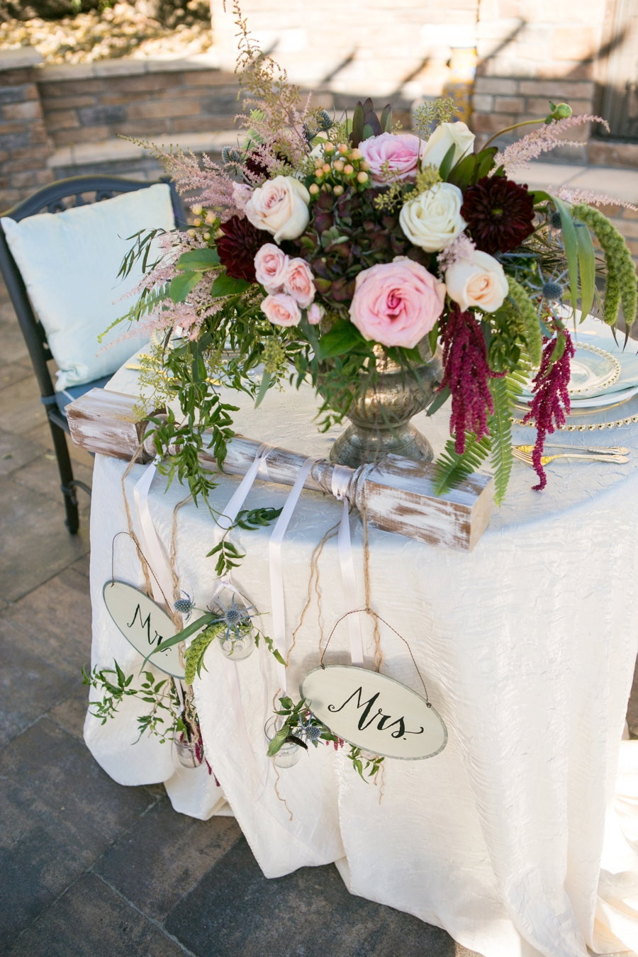 Rustic Elegant Blush and Red Wedding Ideas via TheELD.com
