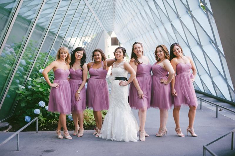 Classic Pink & Plum Seattle Wedding via TheELD.com