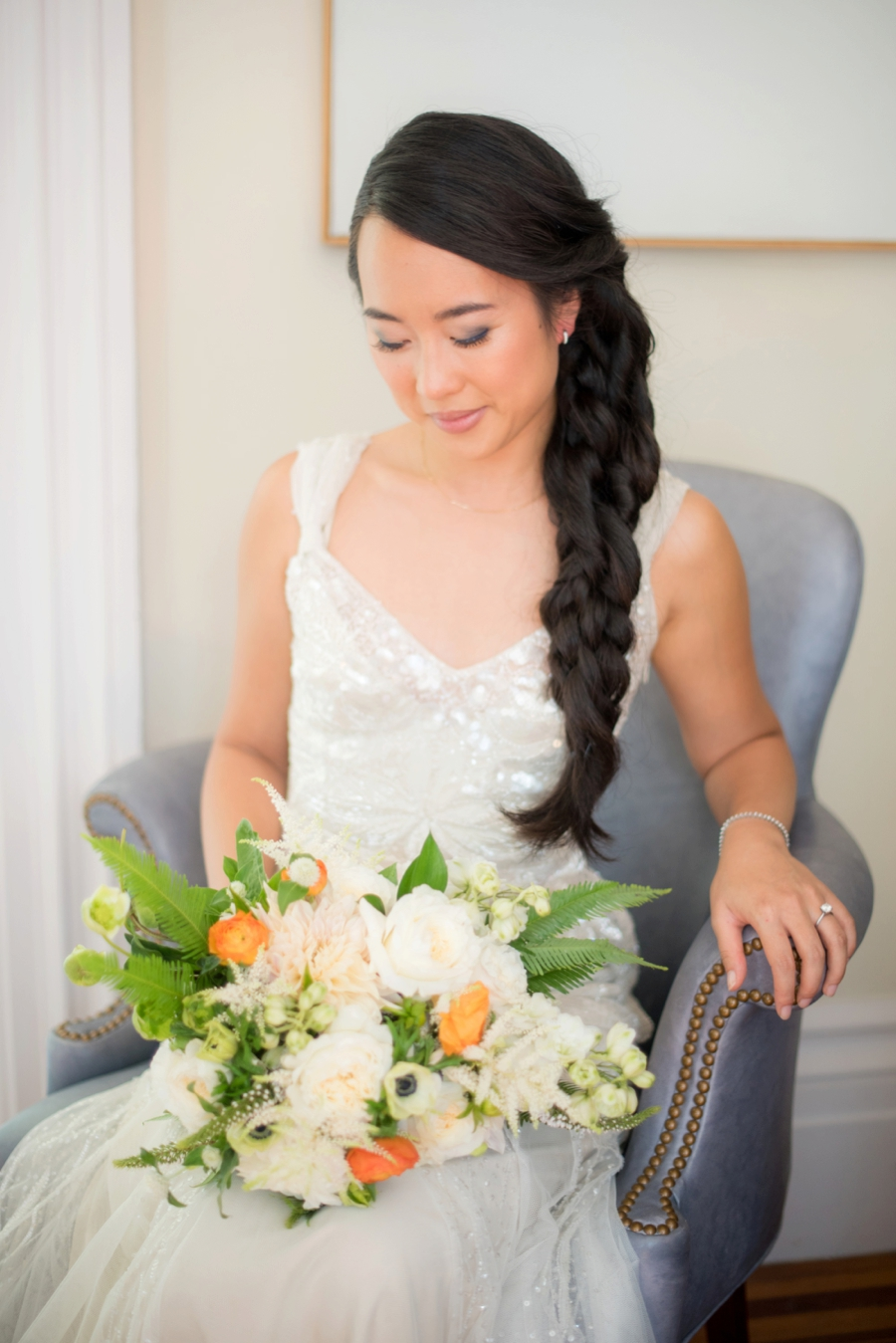 An Eclectic Navy & Orange New York Wedding via TheELD.com