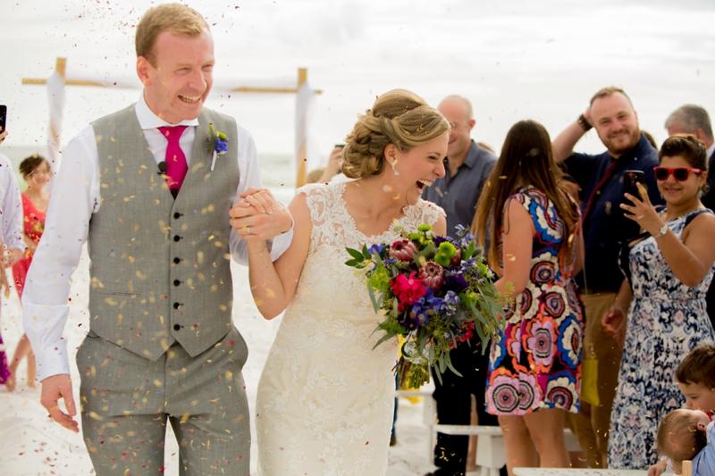 Colorful Florida Destination Wedding via TheELD.com