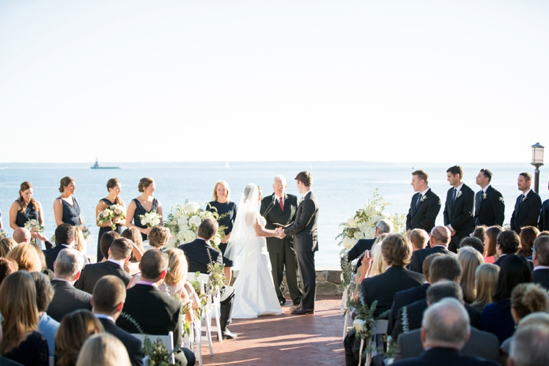 Nautical Blush & Navy Connecticut Wedding via TheELD.com