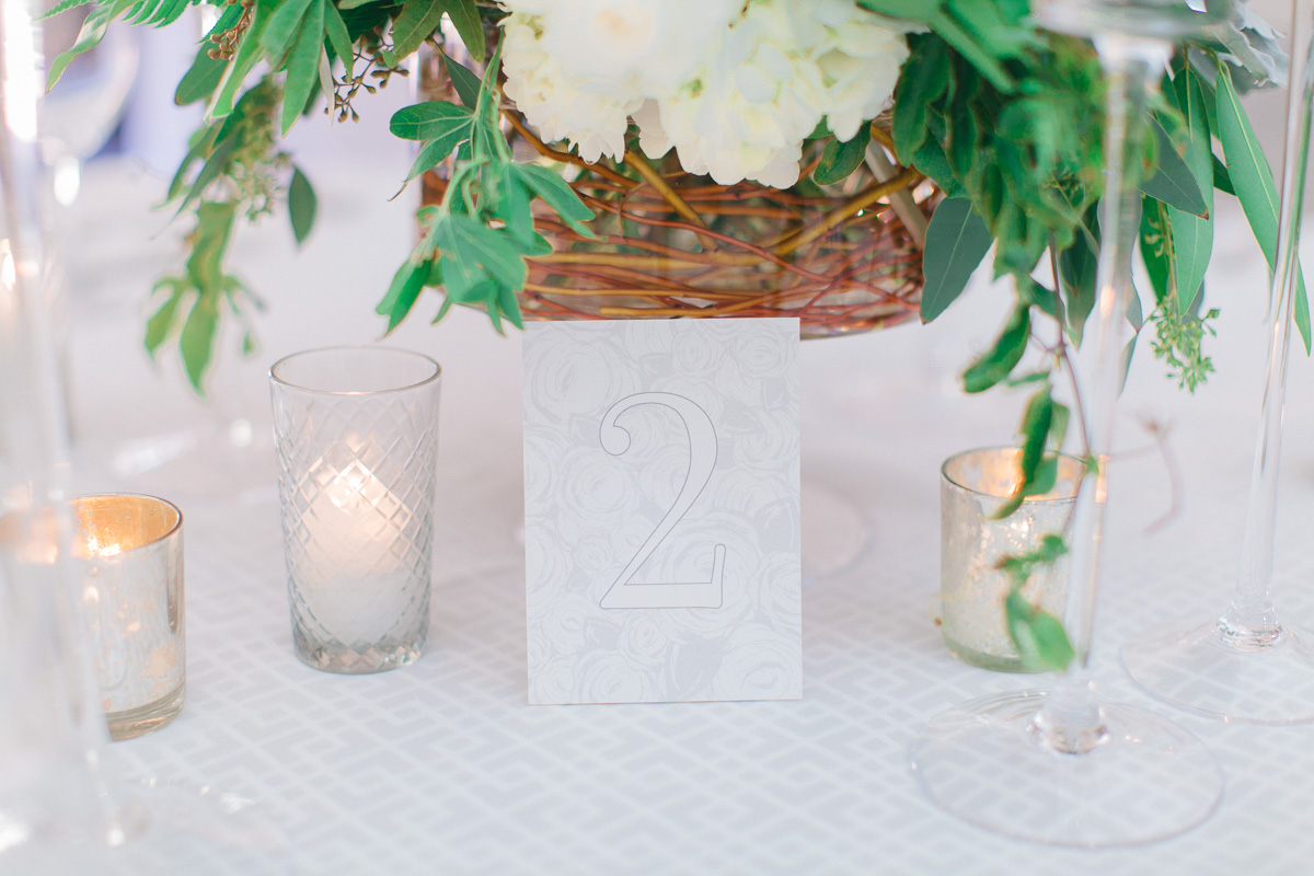 Modern Romantic Green & White Wedding Ideas via TheELD.com