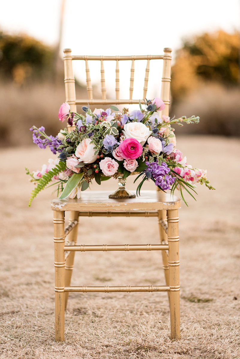 Pink & Purple Southern Glam Wedding Ideas via TheELD.com