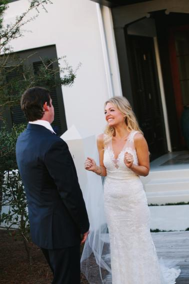 Elegant Navy & Gold Rosemary Beach Wedding via TheELD.com