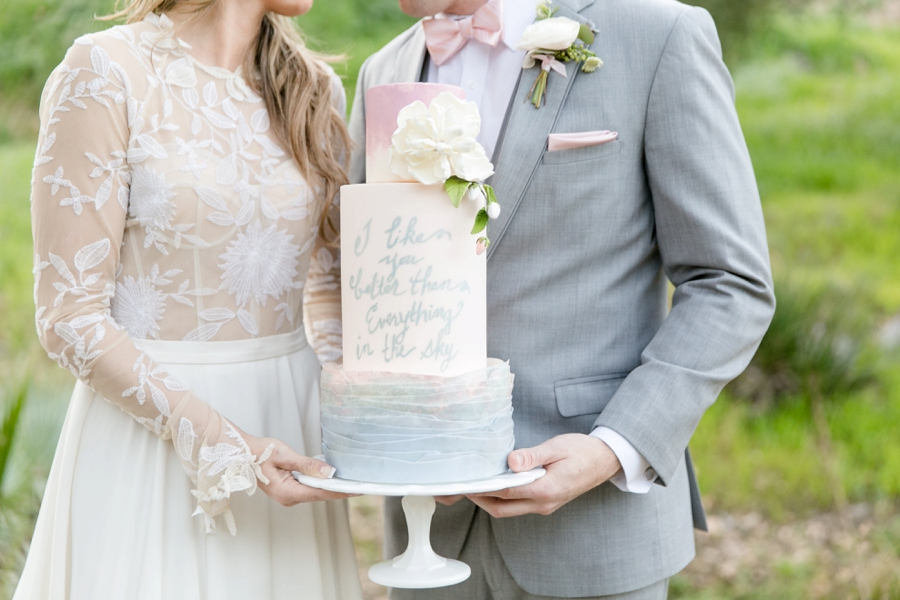 Whimsical Romantic Blush and Blue Wedding Ideas via TheELD.com