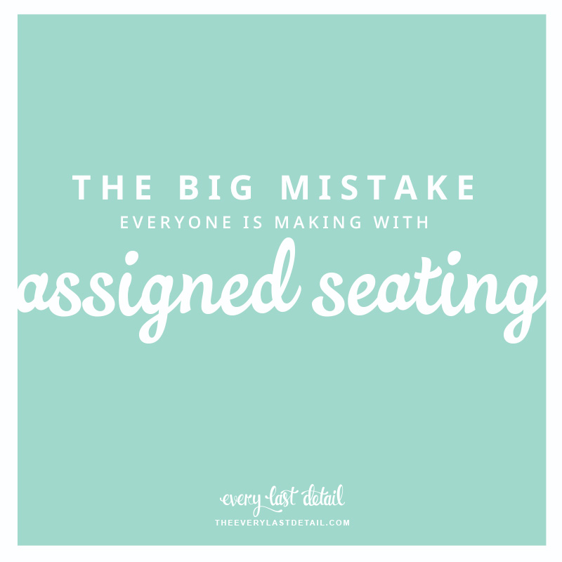 The Mistake Everyone Is Making With Assigned Seating via TheELD.com