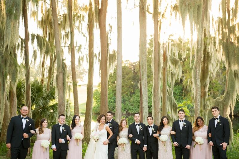 Elegant Blush & Gold Florida Wedding via TheELD.com