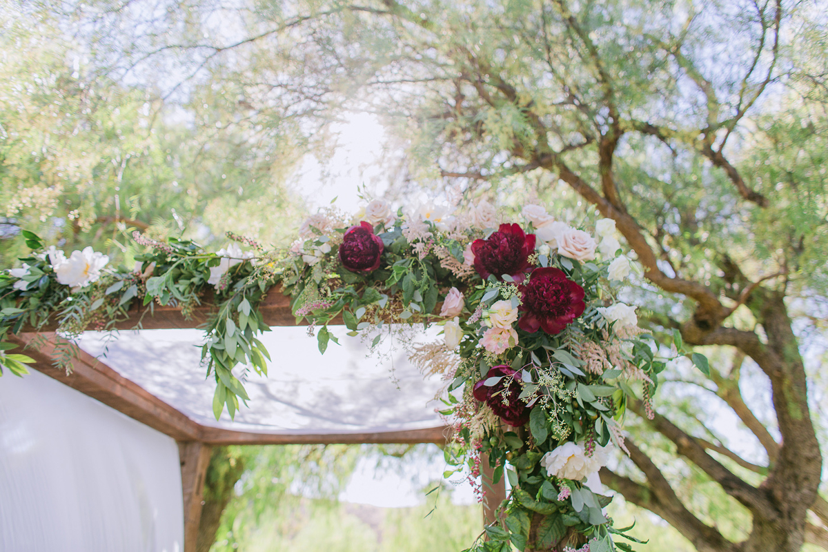 Elegant Blush & Red California Wedding via TheELD.com
