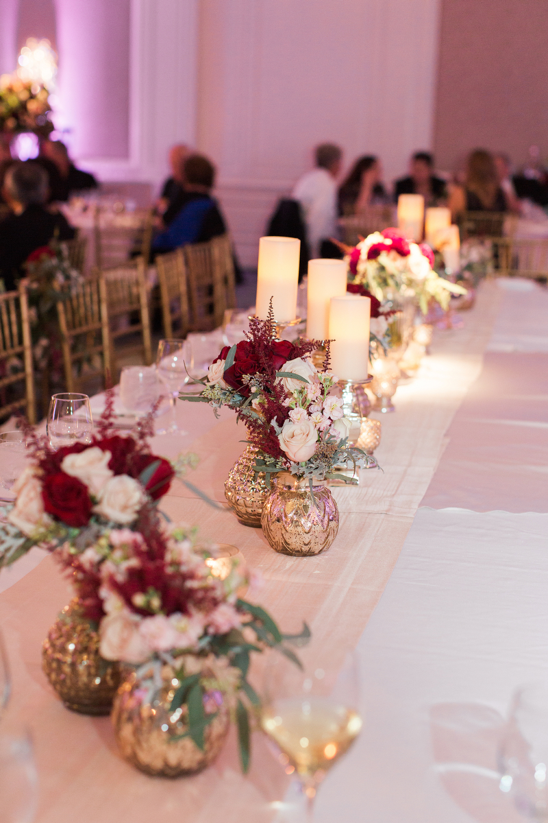 Elegant Purple and Red Amelia Island Wedding via TheELD.com