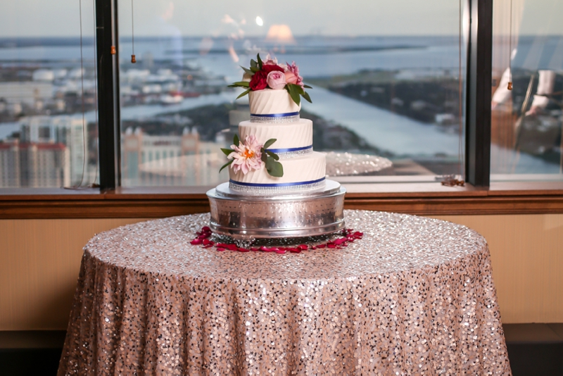Elegant Pink & Navy Tampa Wedding via TheELD.com