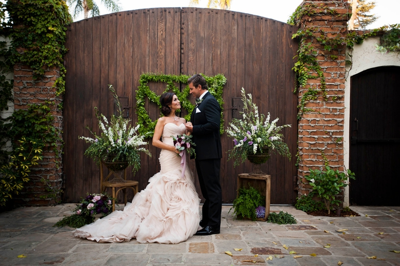 Romantic Purple & Burgundy Wedding Ideas via TheELD.com