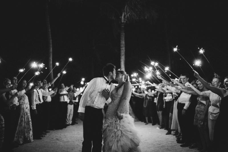 Glamorous Navy & White Islamorada Wedding via TheELD.com
