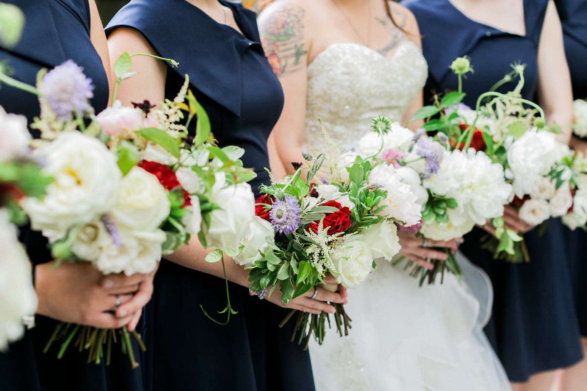 A Romantic Red White and Blue Wedding | Every Last Detail