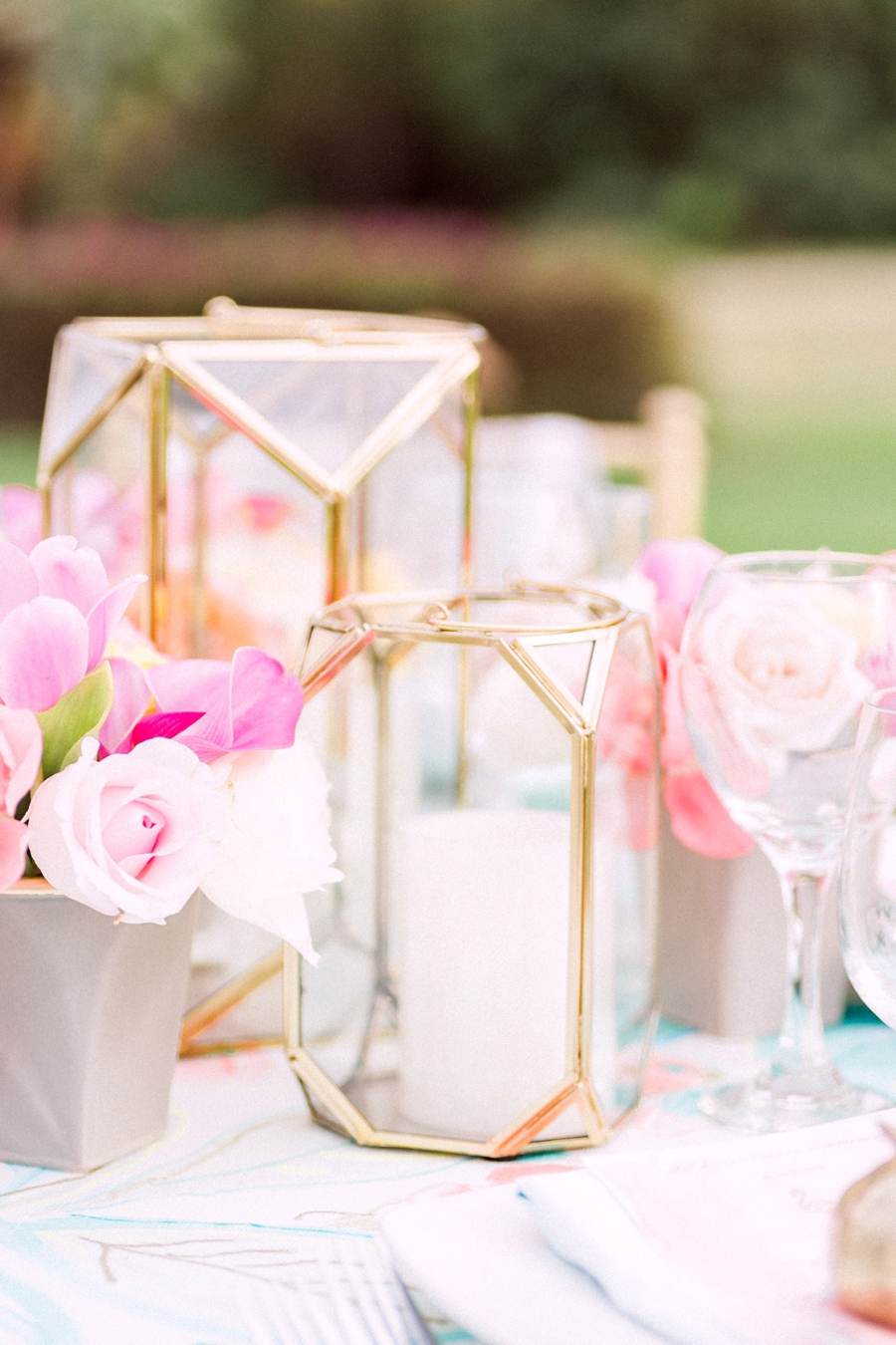 Chic Florida Inspired Pink and Aqua Wedding Ideas via TheELD.com
