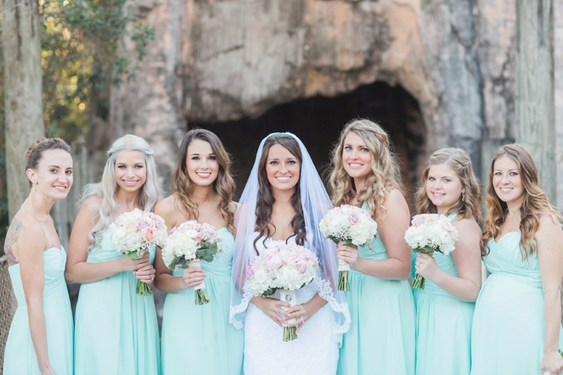 Rustic Elegant Pink & Aqua Florida Wedding via TheELD.com