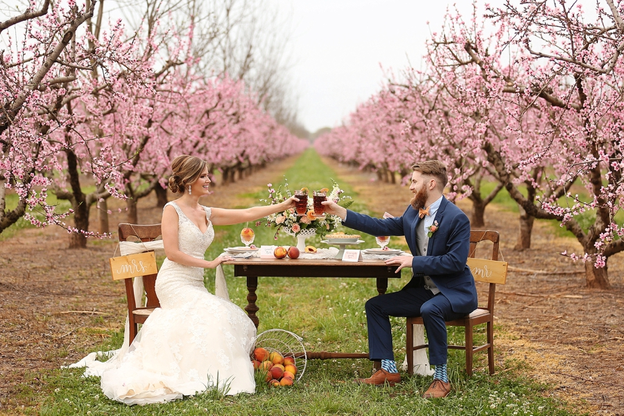 Peach Inspired Southern Wedding Ideas via TheELD.com