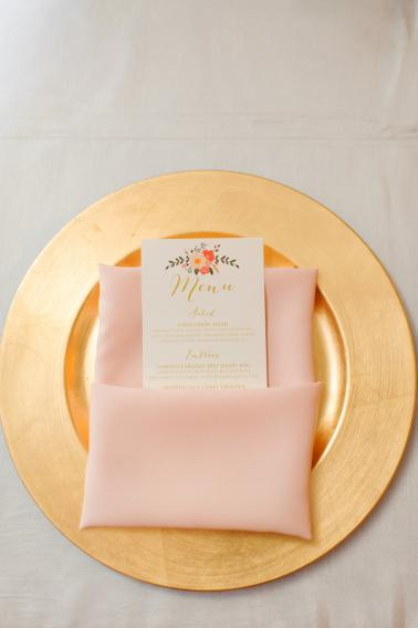 Elegant Peach & Coral St. Pete Wedding via TheELD.com