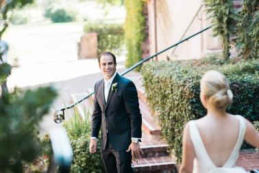 Elegant Green & White Sonoma Wedding via TheELD.com